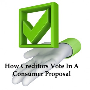 Voting process consumer proposal ontario